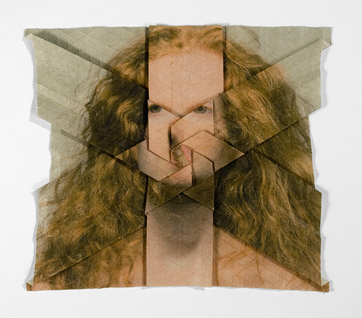Untitled 10 2013 From The Series Self Portrait Origami Tessellation