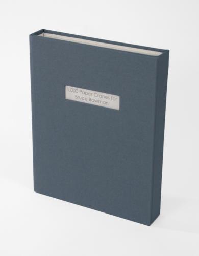 1,000 Paper Cranes for Bruce Bowman Artist Book