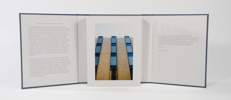 1,000 Paper Cranes for Bruce Bowman, Lynné Bowman Cravens, Handmade artist book, 2013